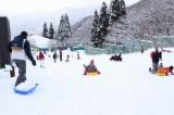 奥伊吹スキー場(米原市)駐車場代1000円だけで一日雪遊び