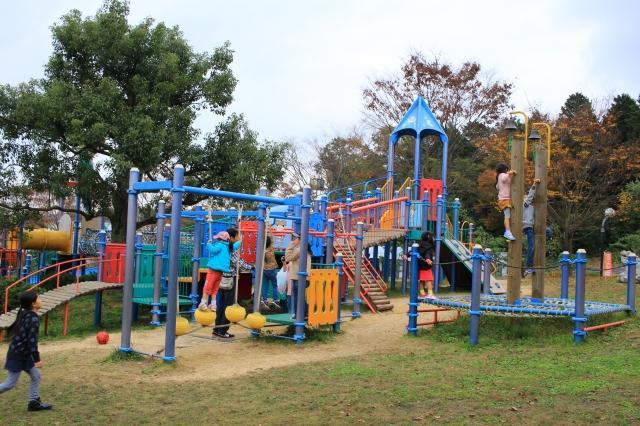 じゅらくの里へ行ってきた!(湖南市)大型遊具、川遊び、紅葉も楽しめる公園