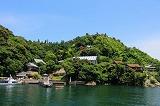 竹生島(長浜市)でかわらけ投げ|彦根港からのクルーズ旅